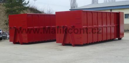 Abroll kontejner – tažná strana