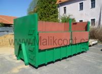 Kontejner na odpad s bočnicemi