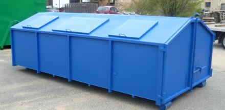 Kontejner na odpad se záklopnými víky