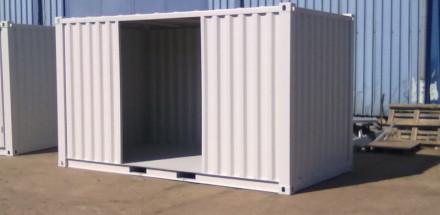 Skladový kontejner s otevřeným bokem